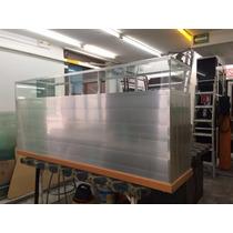 Vitrina Mostrador Exhibidor Cristal Con Aluminio Excelente!!