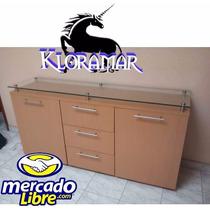 Mueble Credenza Con Cristal 1.50 De Largo