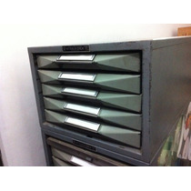 Pm Steele Steel-dex Planero 5 Cajones Para Archivar Vintage