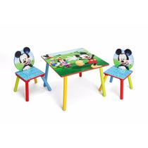Juego Mesa Mesita Con 2 Sillas Silla Infantil Disney Mickey