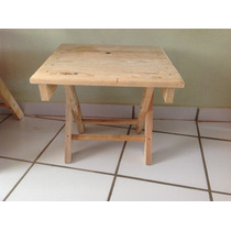 Mesa De Madera Plegable Mini