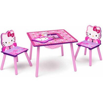 Mesa Madera Con Dos Sillas Hello Kitty