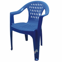 Silla De Plastico Berlín Económica Reciclada Azul