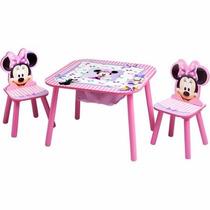 Minnie Mouse Disney Mesa Y Sillas De Almacenamiento Definido