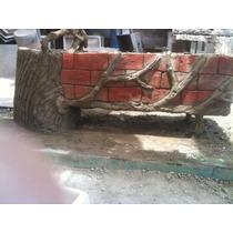Banca Con Jardinera Imitacion (hecha En Concreto Armado)