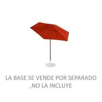 Sombrilla 2.20mts Sunbrella Armazón De Aluminio Color Madera