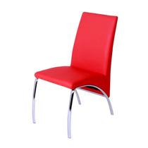Silla T Piel Vip Roja Roja X-194-a Roja Minimalista Elegante