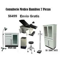 Consultorio Medico Hamilton 6 Piezas Y Bascula Con Estadimet