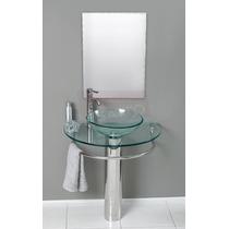 Esatto - Mueble De Baño Lavabo Cristal Cromo Espejo Gy-521