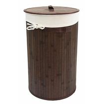 Cesto Para Ropa 100% Bamboo Chocolate Recamara Ropero Dicsa