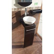 Mueble De Baño Gloria (marrón) Con Monomando Ovalin Espejo