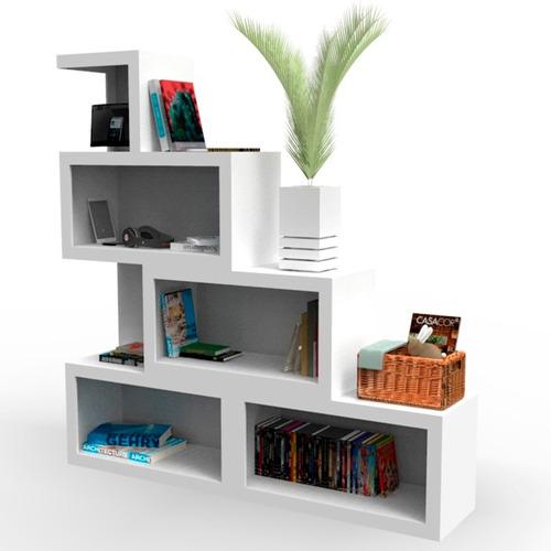 Muebles repisas minimalista librero salas mobydec tocador for Mueble minimalista