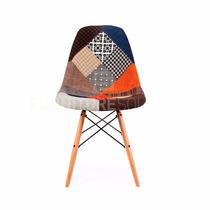 Silla Moderna Decorativa Estilo Eames Multicolor Asiento
