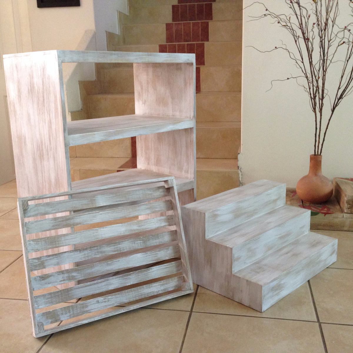 Muebles vintage para mesa de dulces jgo 3 piezas for Como hacer espejos vintage