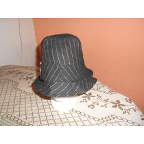 Sombrero Negro Con Rayas Blancas