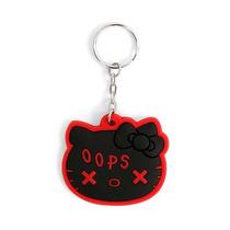 Hot Topic Hello Kitty Llavero Black Oops Key Chain