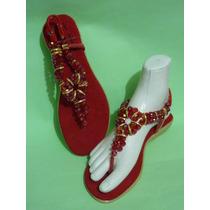 Sandalias Con Pedreria Cristal Huarache