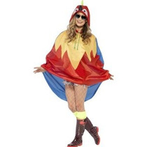 Parrot Party Poncho Vestido De Lujo Unisex Traje Adulto