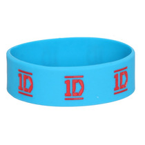Hot Topic Pulsera One Direction 1d Turquoise Rubber Bracelet