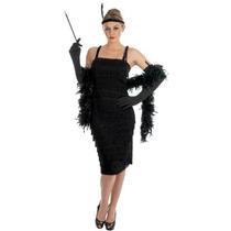 Disfraz Aleta - Señoras 1920s Negro Charleston -