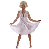 Marilyn Traje - Blanco Atractivo Monroe Gallina Noche Del Ve