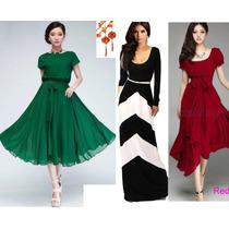 Moda Japonesa Oriental Asia Vestido Largo Maxidres Env.grati