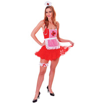 Traje De Enfermera - Womens Deluxe Set Gallina Fiesta De Hal