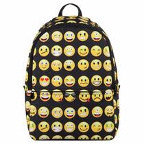Mochila Adolescente Escolar Emoticones Entrega Inmediata