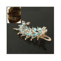 Clip De Diamantes De Imitación En Forma De Lámina - Azul