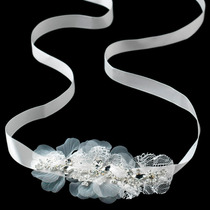 Bandita Novia Encaje Cristales Tipo Diamante E Incrustacion