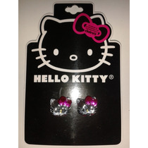 Aretes Cara Cristal Hello Kitty Sanrio! Regalo