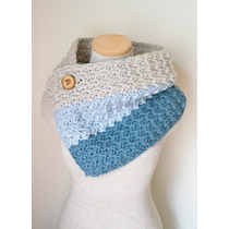 Bufanda Abrigo Mañanita Tejida A Mano Crochet