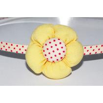 Diadema Flor Amarillo Y Rosa Dia05