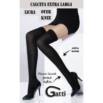 Calcetas Extralargas De Likra Over Knee Arriba Rodilla