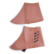Steampunk Costume - Marrón Faux Leather 1920s Spats