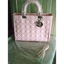 Bolsa Piel Lady Cristian Dior Rosa Doble Aza