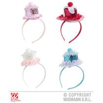 Sombreros Del Partido - Señoras Cake Mini Pink Glitter Somb