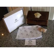 Bolsa Clutch Versace Piel De Charol Con Caja