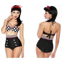Bikini Retro Lunares Traje De Baño Dama Talla Chica 32 Sexy