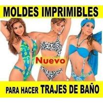Kit Imprimible Trajes De Baño, Mallas, Bikinis, Moldes