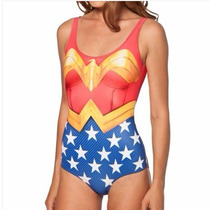 Traje De Baño Leotarde Wonder Woman