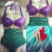 Bikini Traje Baño Ariel Sirenita Little Mermaid Bikinis Sxl
