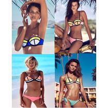 Lote 10 Piezas Bikinis Neopreno Premium Tipo Triangl Mayoreo