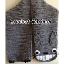 Bufanda Totoro Crochet Tejido