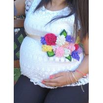 Cinturon Embarazada, Corsage Adorno Embarazo Flores Fieltro