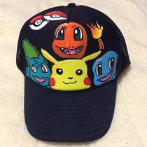 Pokemon Gorra Personalizada Pikachu Charmander Squirtle