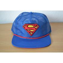 Gorra Superman Malla Completa Trucker Retro