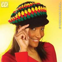 De Punto De Ganchillo Beanie Rasta Gorra Tam Beret Jamaica