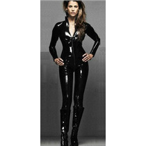 Catsuit Leggings Bodysuit Pantalon Vestido Latex Cuero Sp0