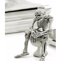 Llavero Esqueleto En Sanitario Wc Chusco Broma Regalo Cool